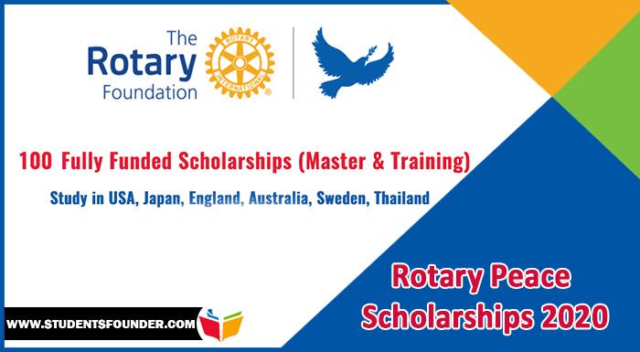 Rotary Peace Scholarships 2020   Fully Funded