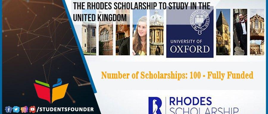 Fully Funded UK Rhodes Scholarship 2021