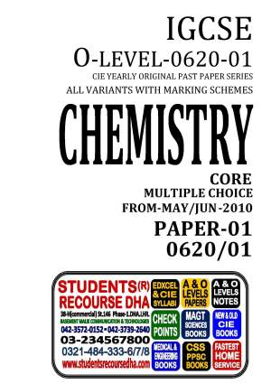UNSOLVED YEARLY WITH MARKING SCHEME IGCSE CHEMISTRY-P1-0620-01