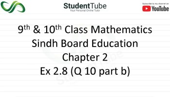 Chapter 2 - Exercise 2.8 Q 10 part b