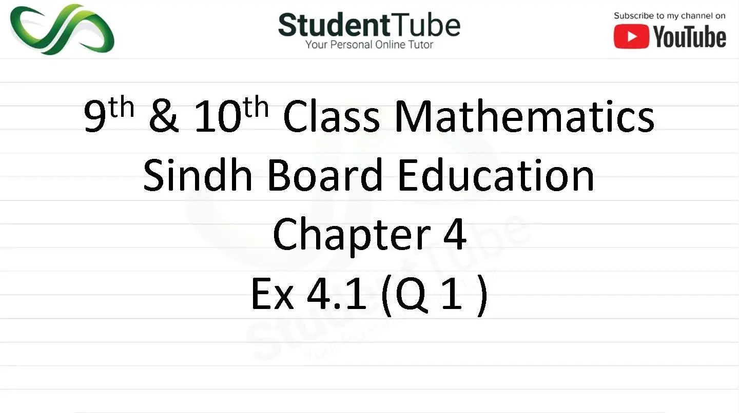 Chapter 4 - Exercise 4.1 Q 1