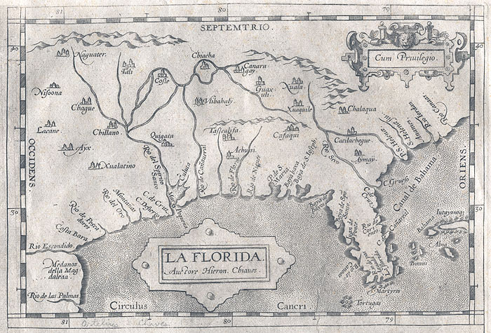 One of the earliest maps of Florida.