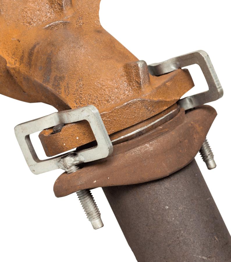 car studfix clamp installed