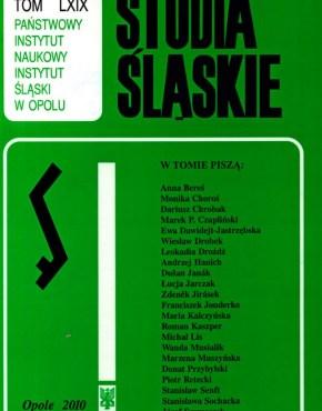 Studia Śląskie tom 69