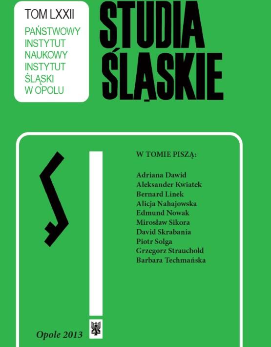 Studia Śląskie tom 72