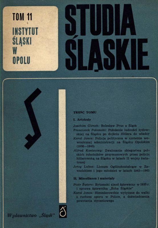 Studia Śląskie tom 11