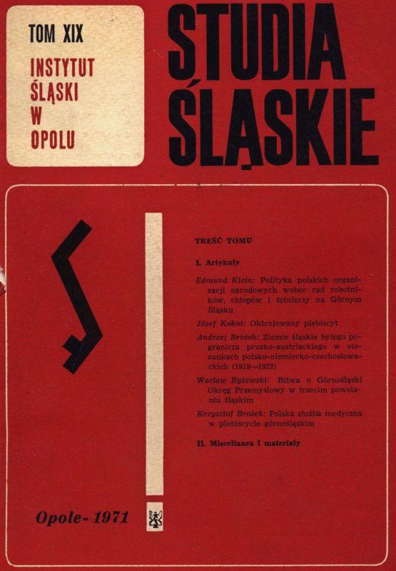Studia Śląskie tom 19