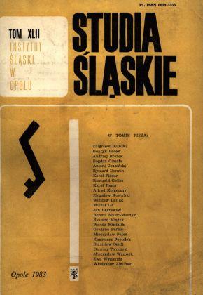 Studia Śląskie tom 42