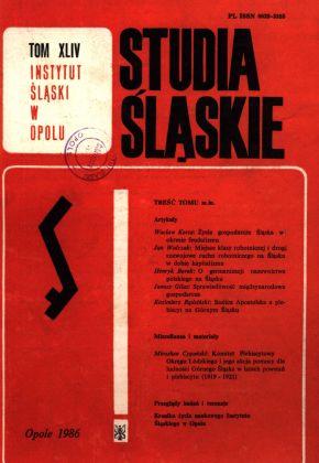 Studia Śląskie tom 44