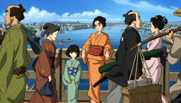 hokusai miss figlia anime sarusuberi (9)