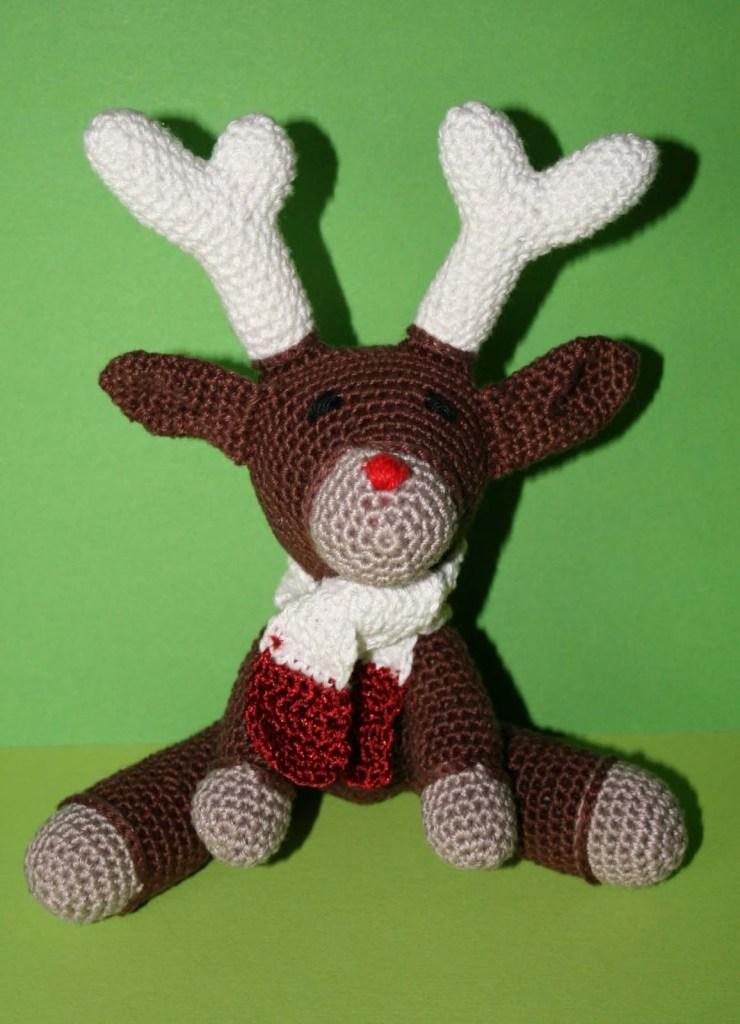 Murray the Reindeer op groen achtergrond