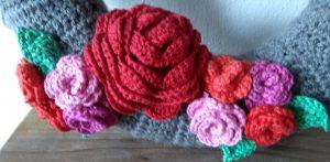 valentijn krans detail bloemen