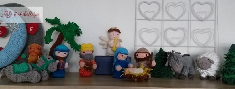 gehaakte kerststal - totaaloverzicht van alle figuren