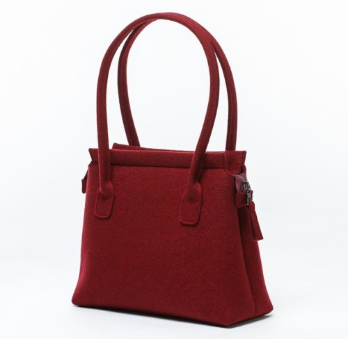office-handbag-felt-red