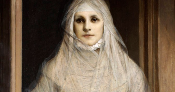 Gabriel von Max - The White Woman