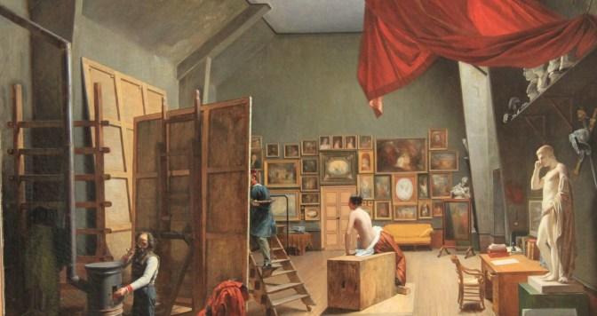 Adrienne Grandpierre, L'atelier d'Abel de Pujol