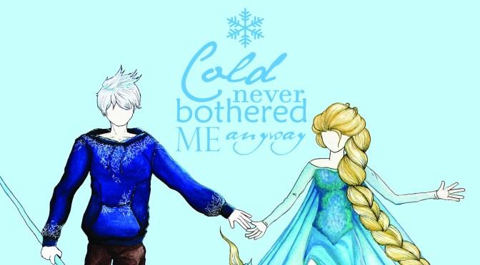 [Work in progress] Dessins : La Reine des Neiges et Jack Frost : Jelsa