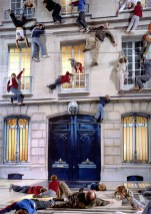 Leandro Erlich, Bâtiment, Nuit Blanche, Paris, 2004