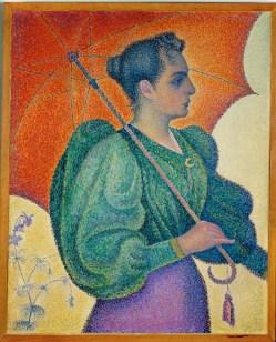 Femme à l'ombrelle Paul Signac (1863-1935) 1893 Huile sur toile 81 x 65 cm Musée d'Orsay, Paris
