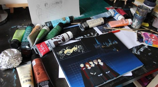 [Work in progress] Peinture : Au temps des Maraudeurs