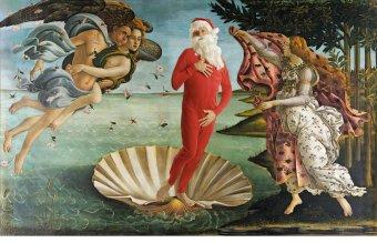 """Ed Wheeler revisite la célèbre toile """"La Naissance de Vénus"""" de Botticelli."""