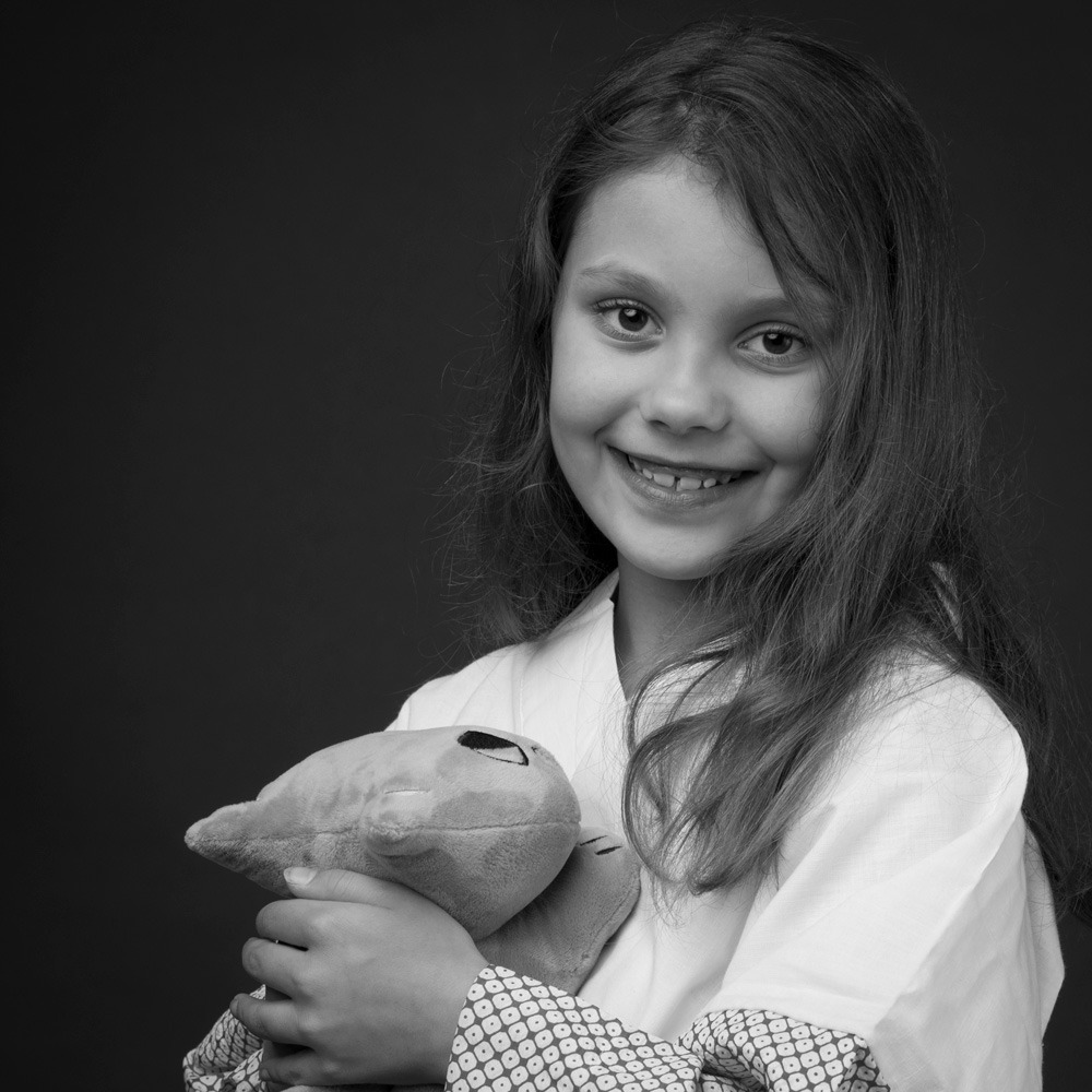 Black And White Children Portraits