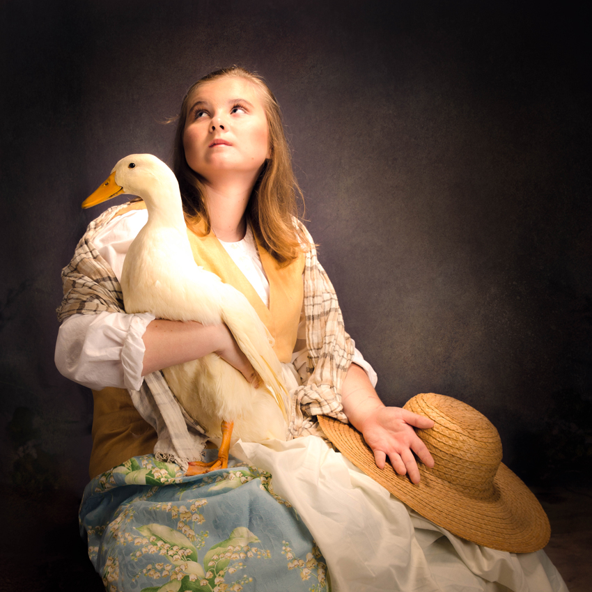 Picture of young girl and her duck