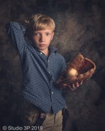 little boy sports portrait