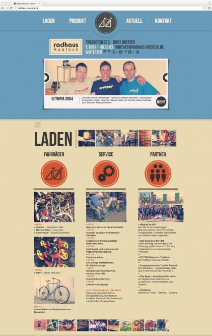 Single Page Website oben