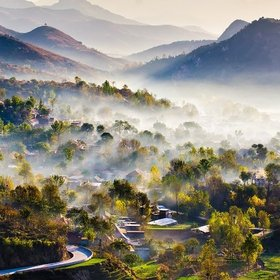 Mountain Village by Yifei Wang