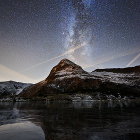 Milky Way - Colbricon Lake  by Edoardo Brotto