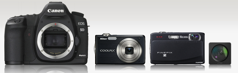 Un comparateur de taille pour appareils photos