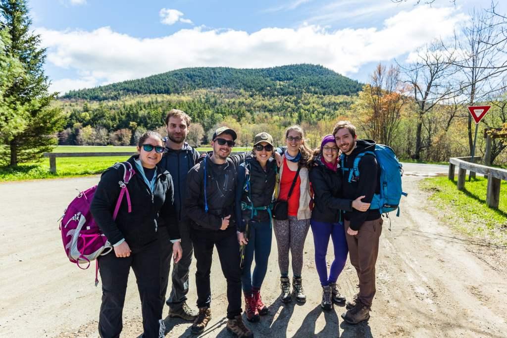 Notre groupe pour la randonnée du Mont Big Slide