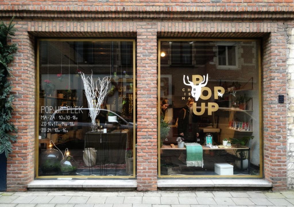 plek, Leuven, belgium, design, interior, popup, pop-up, shop, gem platter, window design, logo design