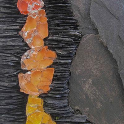 zoom_matière_pâte de verre_ardoise_creation_piece_artistique