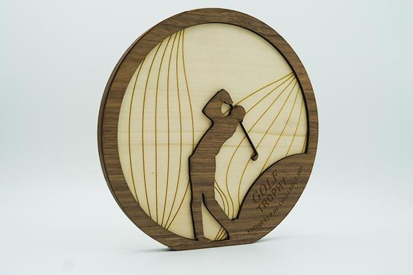 trophée rond golf, prix vainqueur, golf trophy, paris, fabrication fait main