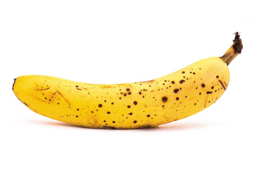 Banaan met veel bruine vlekjes