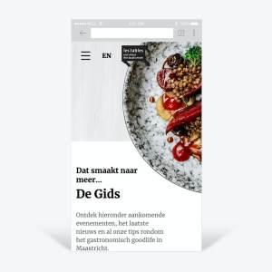 Mobiele website Les Tables