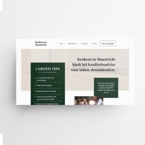 Website ontwerp Keukens in Maastricht