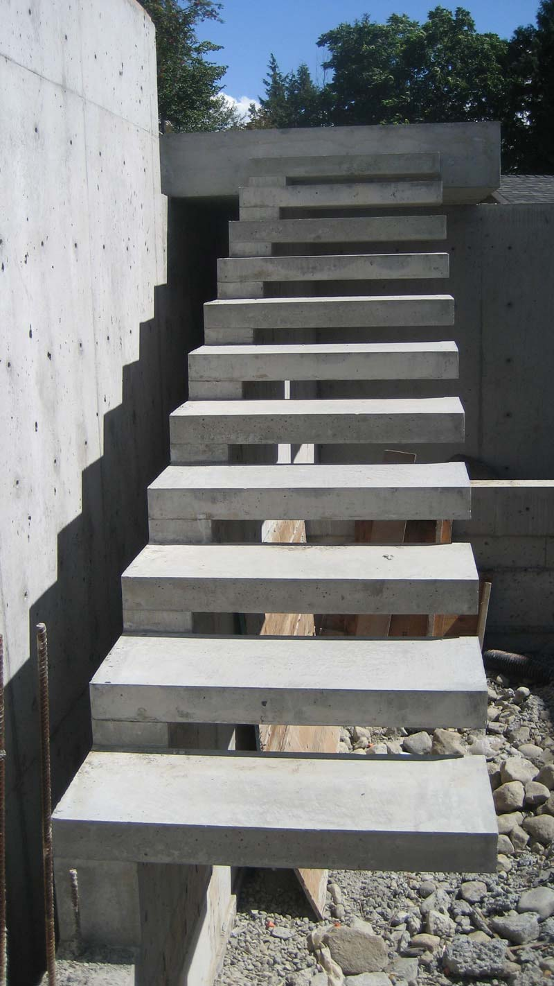 DETAIL Cantilevered Stair Home Building In Vancouver