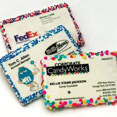 Печенье-визитка