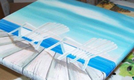 Handpainted Decorative Bar Stools