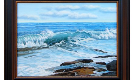 Finishing Ocean Wave Seascape Oil Painting