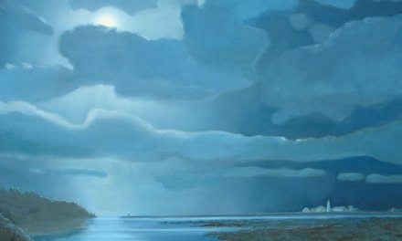 Moonlight Seascape Oil Painting – almost finished