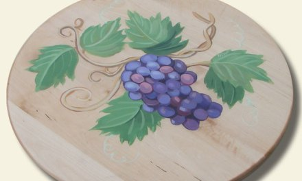 Hand Painted Lazy Susan – nice home decor gift