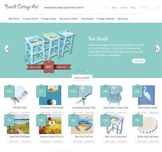 New Web Site – Beach Cottage Art.com