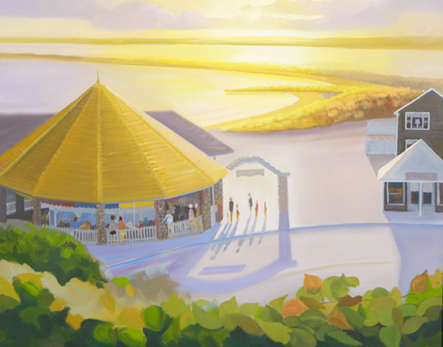 Continuing Oil Painting of the Flying Horse Carousel in Watch Hill, Rhode Island – follow along