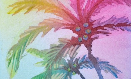 Palm Tree Painting – Colorful watercolor