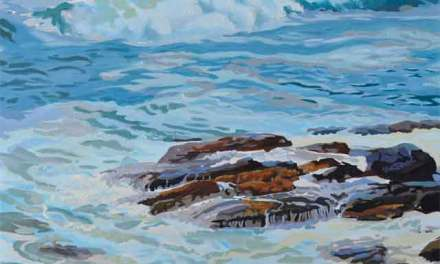 Ocean Wave Painting Underway by PJ Cook