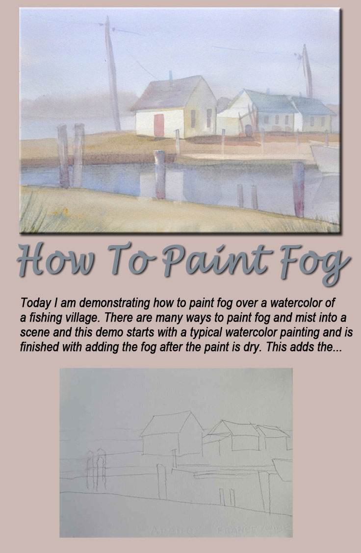 how to paint fog a watercolor tutorial